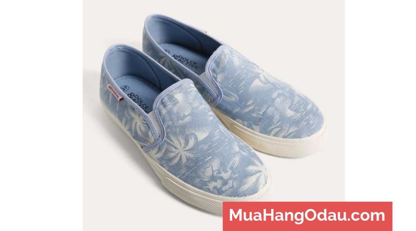 Giày lười vải họa tiết vui nhộn