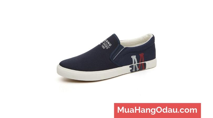 Giày lười vải nam họa tiết M Zavans