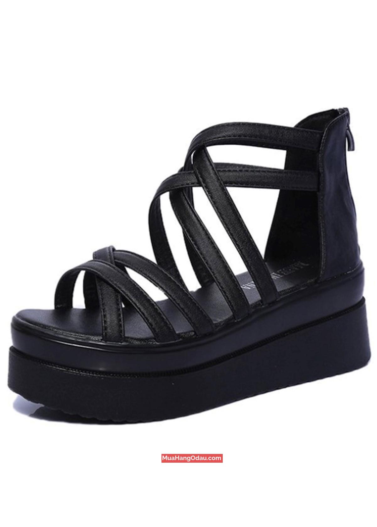 Giày sandal chiến binh 7cm đế xuồng 2