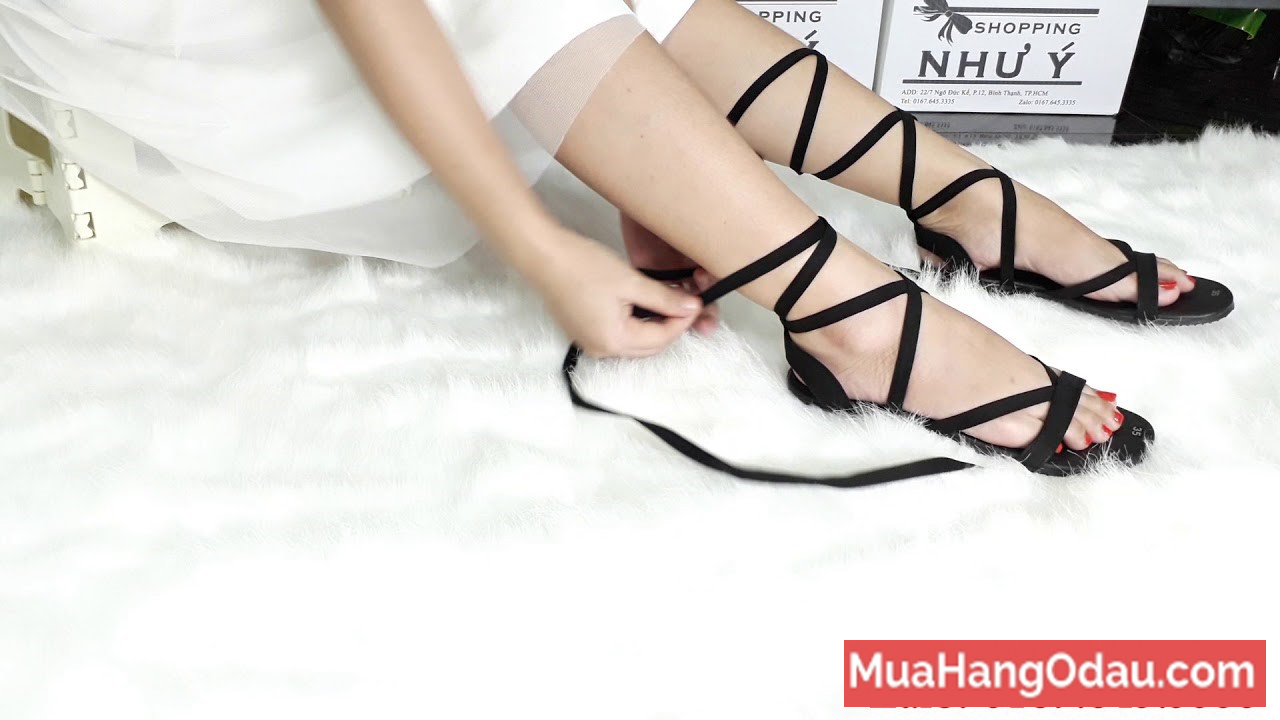 Giày sandal chiến binh cột dây