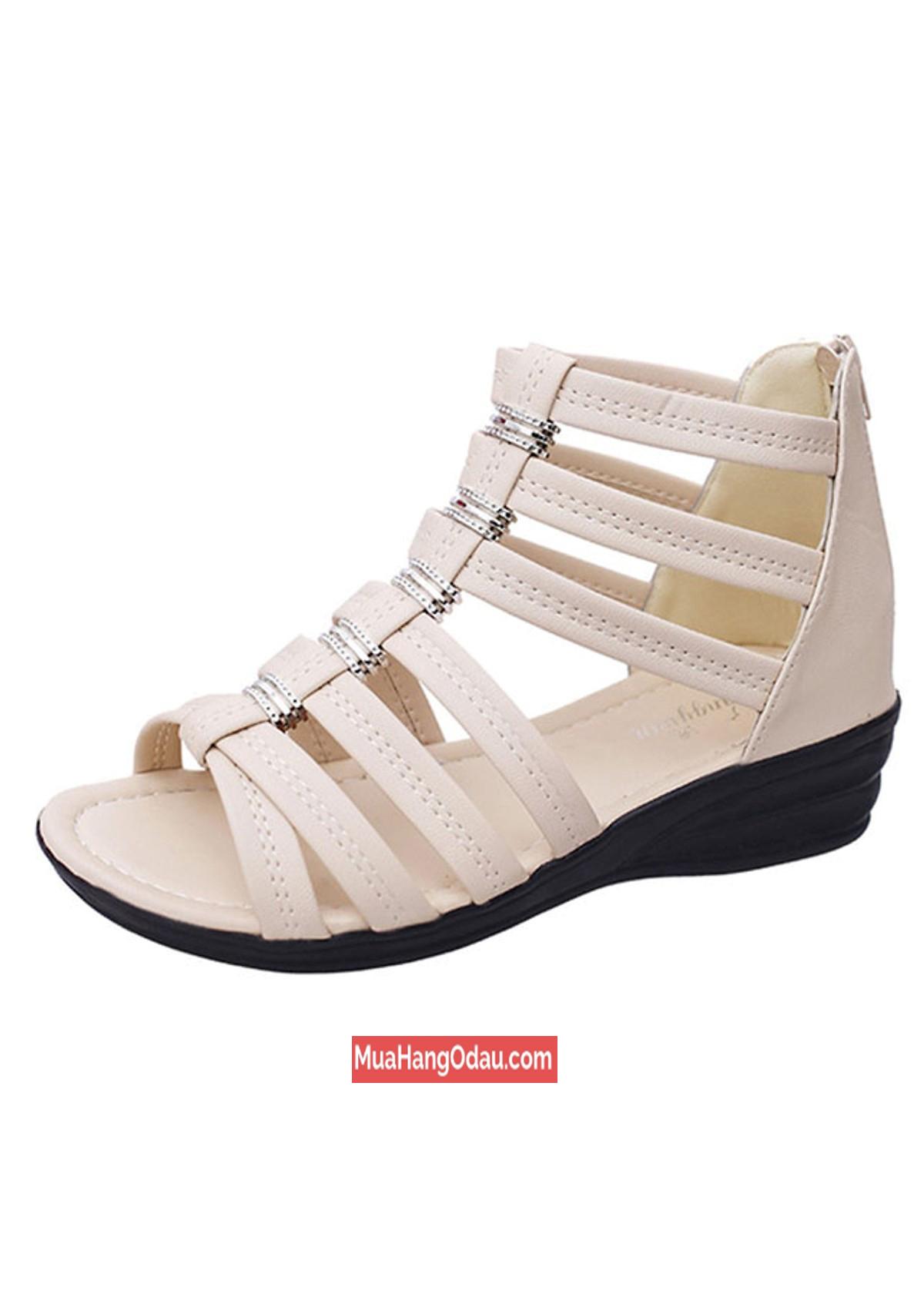 Giày sandal nữ chiến binh đế 4cm ZAVAN 2
