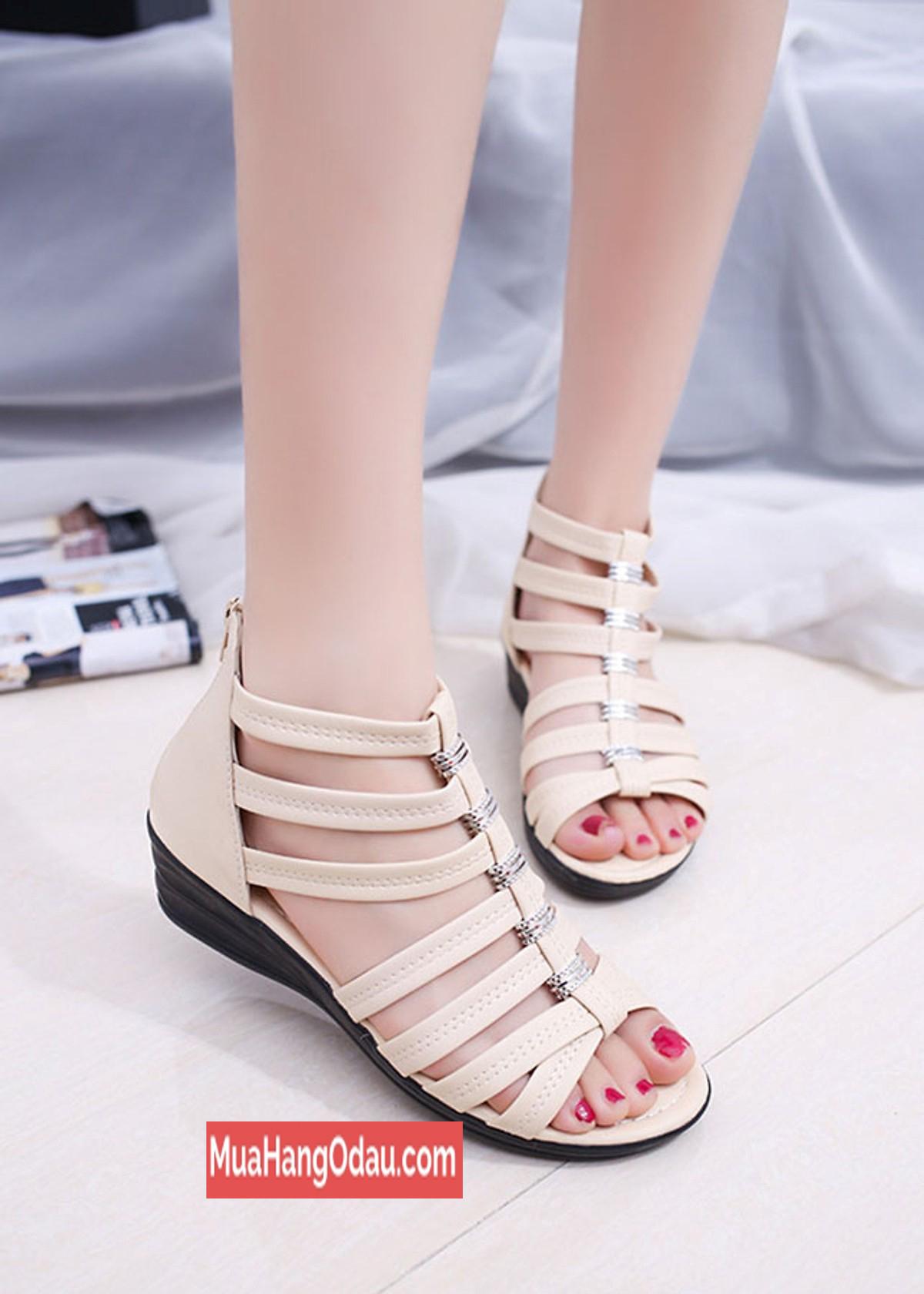 Giày sandal nữ chiến binh đế 4cm ZAVAN