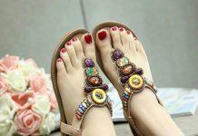 Sandal-nữ-đế-bệt-thời-trang