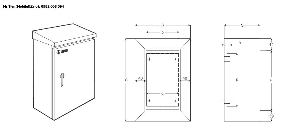 tủ vỏ điện chống thấm
